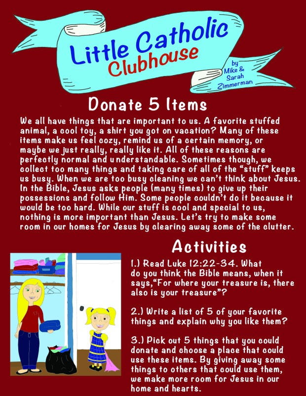 Day 13 Donate 5 Items
