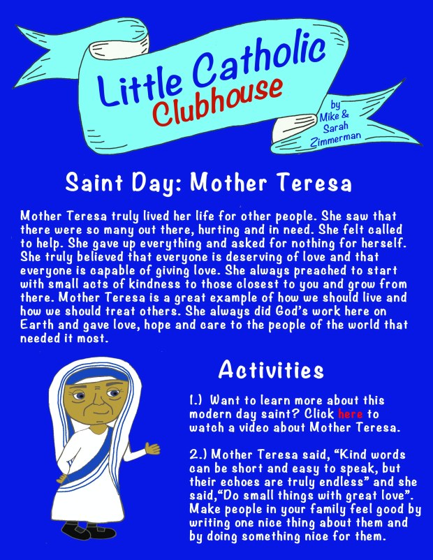 Day 14 Saint Day Mother Teresa