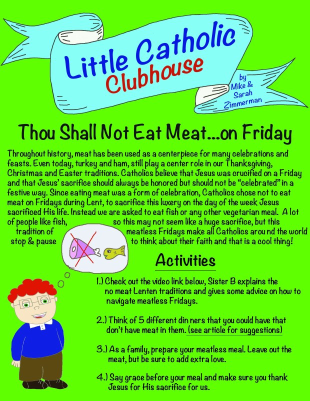 Day 3 Meatless Fridays