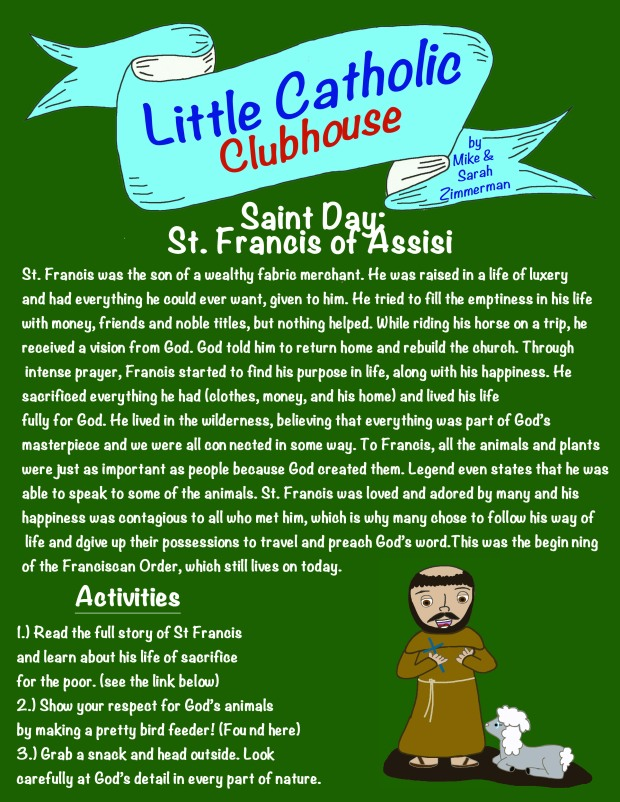 Day 7 Saint Day St. Francis