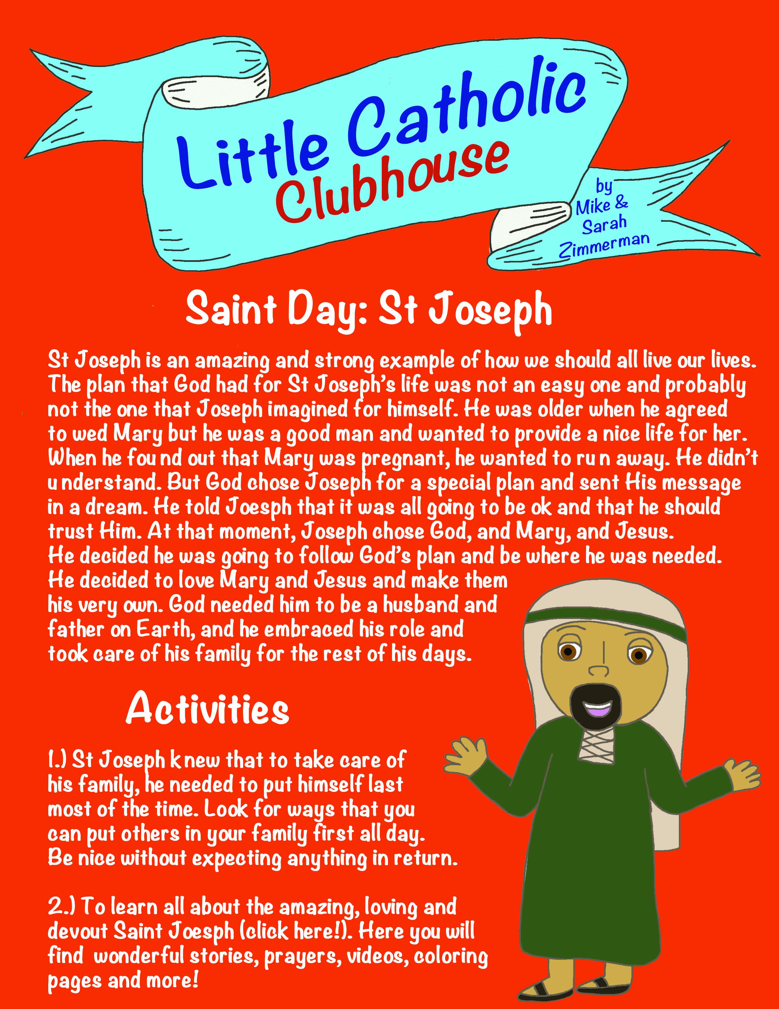 Day 21 Saint Day: St Joseph – Little Catholic Clubhouse