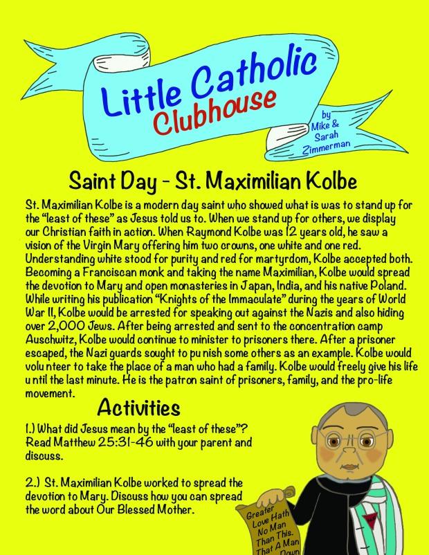 Day 28 St. Maximilian Kolbe