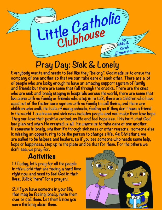 Day 30 Pray Day Sick & Lonely