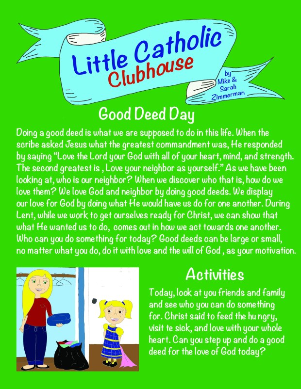 Day 34 Good Deed Day
